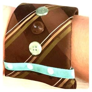 Handmade || Upcycled Tie Cuff Bracelet